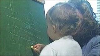 Child in nursery school