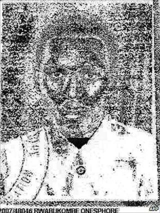 A picture released by Interpol shows Onesphore Rwabukombe