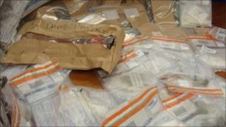 Drugs seized by police in Londonderry