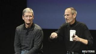 Apple COO Tim Cook and CEO Steve Jobs