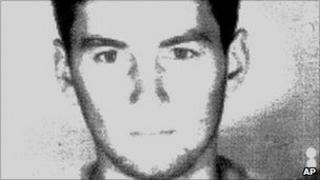 A man identified as a young Aleksander Cvetkovic, image released by Israel's justice ministry