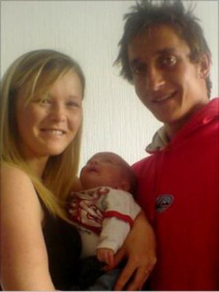 Louise Evans, Thomas Padden and Logan Padden