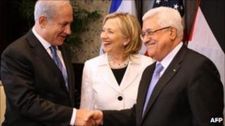 Netanyahu, Clinton and Abbas in Sharm El-Sheikh, 14 September 2010
