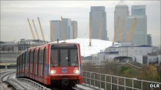 A DLR train
