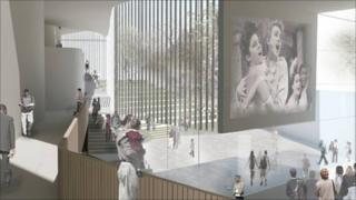 Artist's impression of Pontio arts centre