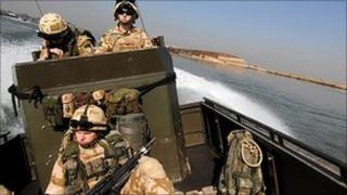 British troops patrolling in Iraq