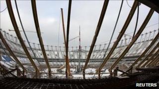 Warsaw's new National Stadium under construction