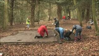 An archaeological survey is carried out in Coleshill estate grounds