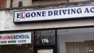 Reprieve handout photo of the Elgone Driving Academy in Horn Lane, Acton
