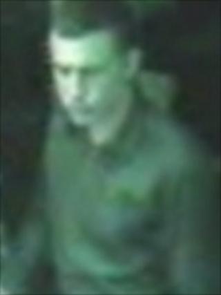 CCTV image of wanted man