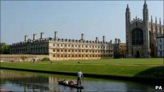 Cambridge University (Kings college chapel and Clare college)
