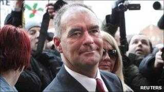 Tommy Sheridan outside court, before he was sentenced