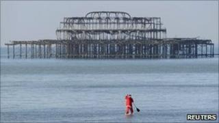 Remains of West Pier