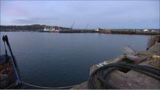 Falmouth docks and harbour