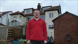 Gary Payne in his garden
