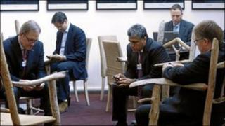 Delegates at Davos