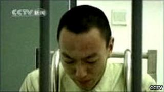 Li Qiming, apologising on national television for a drink-driving accident in Baoding, China, which killed one young woman, in October 2011