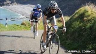 Cyclists near Bude