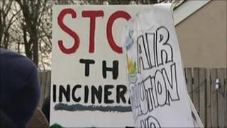 Incinerator protesters