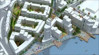 Image of the planned redevelopment of the Sirocco works site