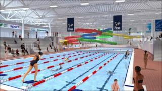 Artist's impression of the new swimming pool complex (picture courtesy of Dundee City Council)
