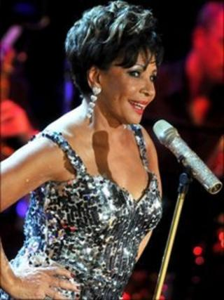 Dame Shirley Bassey performing at the Electric Proms in 2009