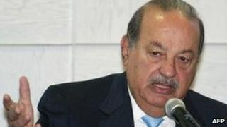 Carlos Slim in Mexico City on 31 January