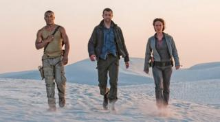 Ashley Walters, Danny Mays and Amy Manson in Outcasts
