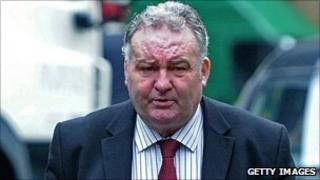 Jim Devine arrives at court