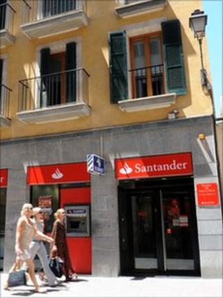 Santander branch in Mallorca