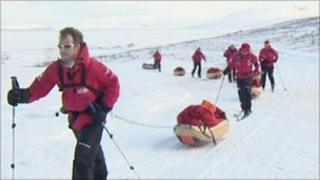 Walking with the Wounded Polar Team