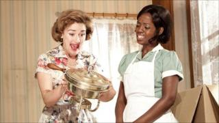 Sophie Thompson with Lorna Brown in Clybourne Park (photo Donald Cooper)