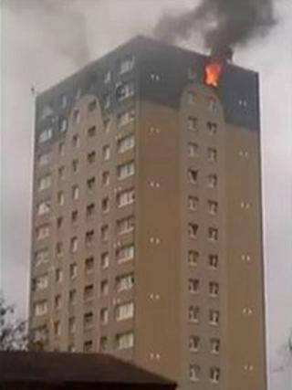 Fire at Marine Tower