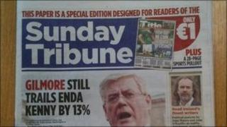 The Irish Mail on Sunday special edition made to look like the Sunday Tribune