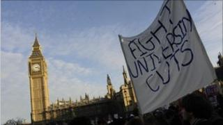 Protest outside parliament