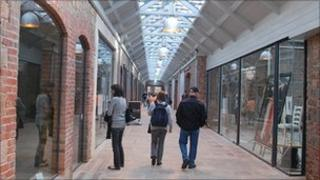 Shoppers in Liberty Wharf