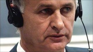 Radislav Krstic at the International Criminal Tribunal for the former Yugoslavia in The Hague in 1998