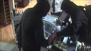 CCTV footage of raid from Lancashire Constabulary