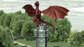 An image of how the dragon tower, near Wrexham, might look