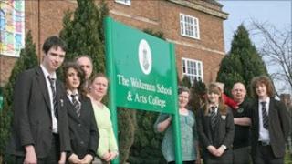 Pupils at the Wakeman School