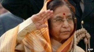 President Patil in Delhi on 30 January 2011