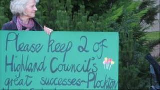 Highland Council protest
