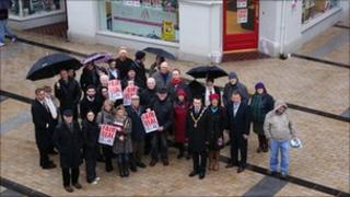 Arts cuts protest in Derry