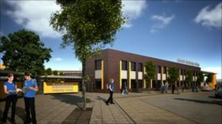 Artist's impression of new school