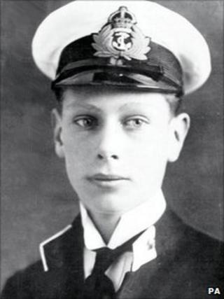 Prince Albert, later George VI, in 1914