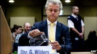 Dutch MP Geert Wilders in court (14 Feb 2011)