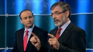 Gerry Adams and Micheal Martin