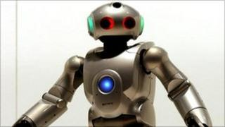 A Japanese robot that is programmed to dance and sing