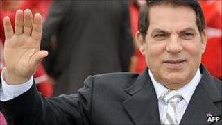 Zine al-Abidine Ben Ali (file image)