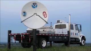 Mobile radar truck (U Oklahoma)